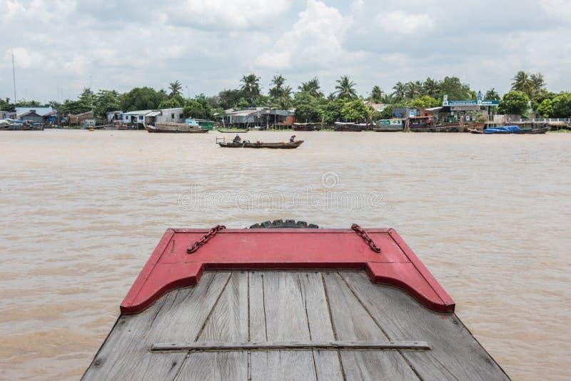 小船的甲板 图库摄影