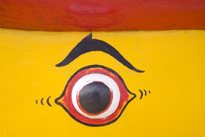小船眼睛s 库存照片