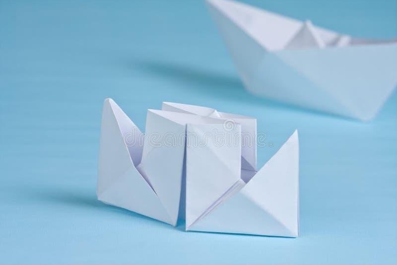 小船纸张 库存照片