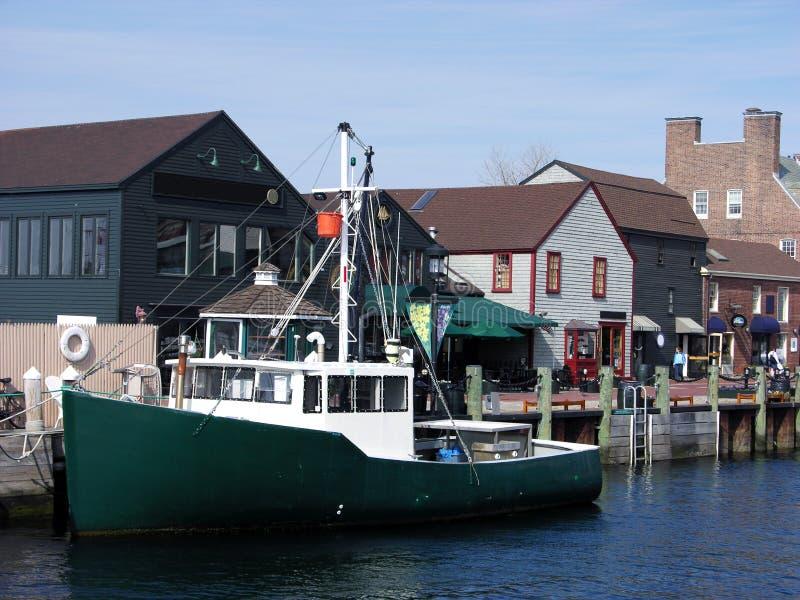 小船纽波特 库存照片