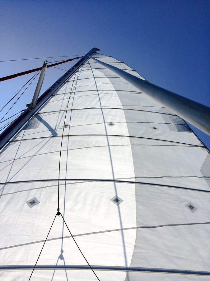小船航行加勒比海 库存照片