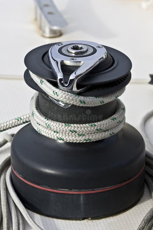 小船航行绞盘 免版税库存图片
