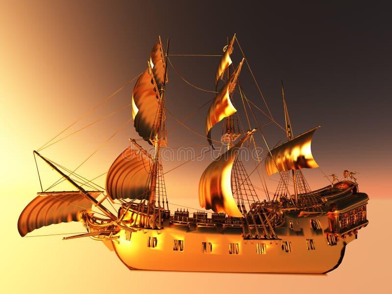 小船航行 皇族释放例证