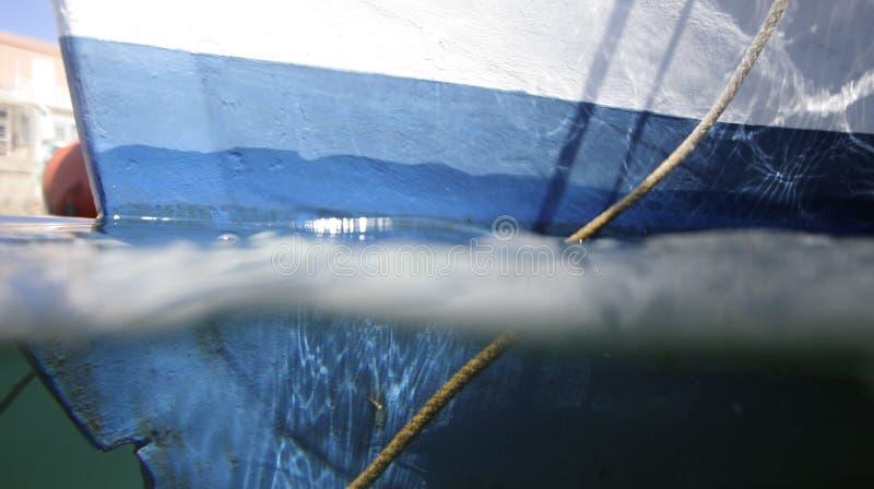 小船船身 免版税库存图片