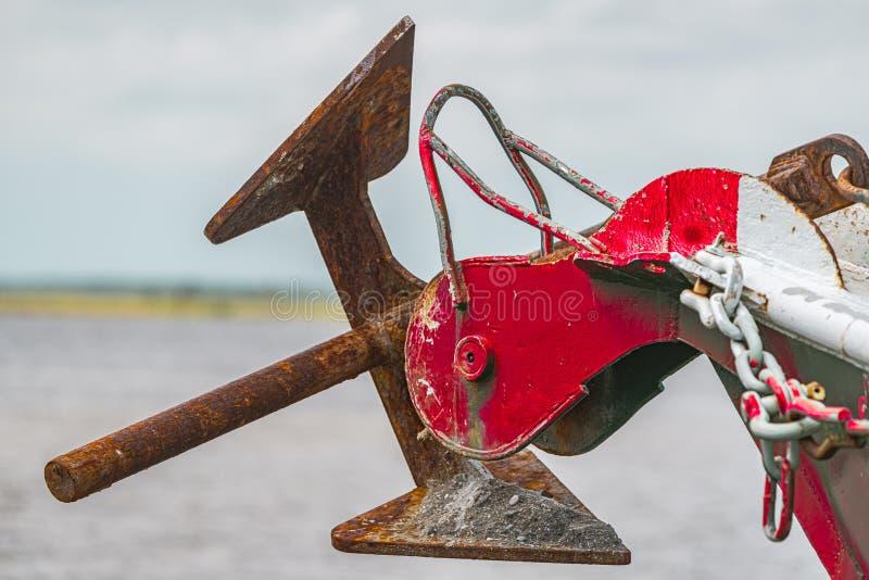 小船船锚 免版税库存图片