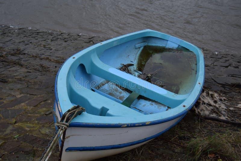 小船蓝色 库存图片