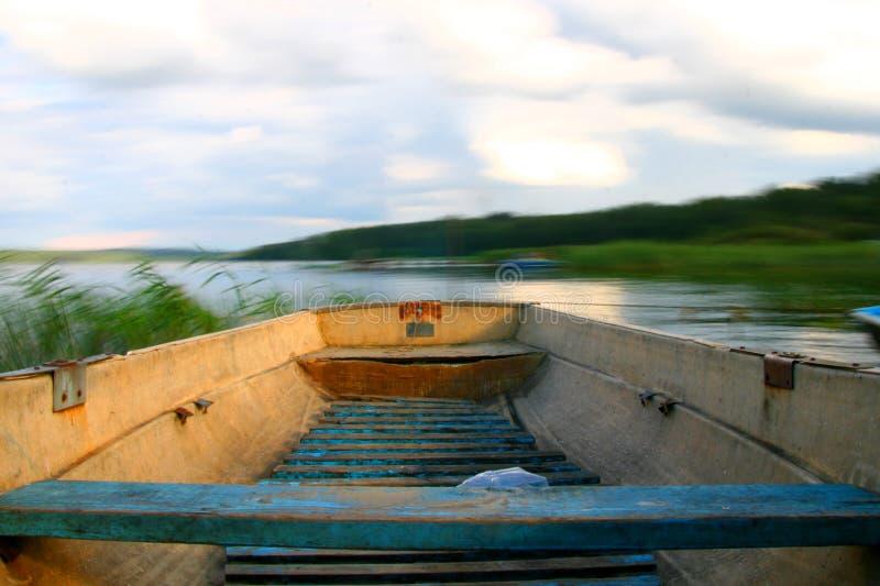 小船行动 免版税图库摄影