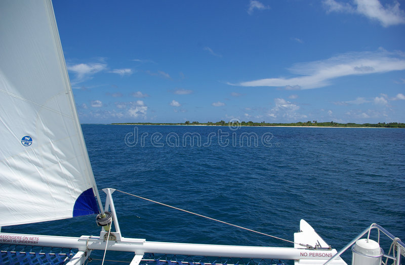 小船行程 库存图片