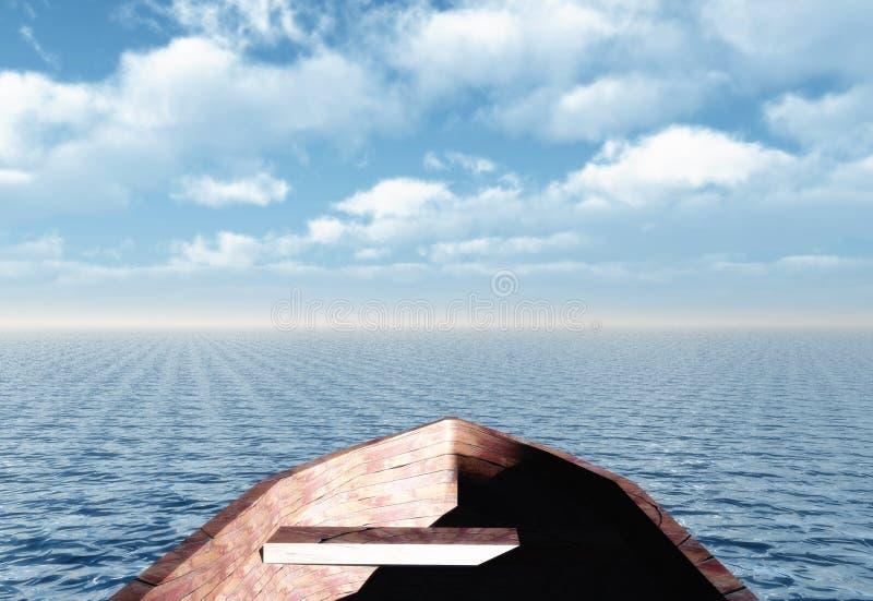 小船视图 向量例证