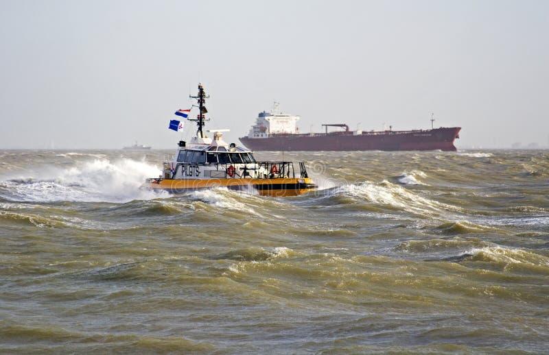 小船试验风暴 库存图片