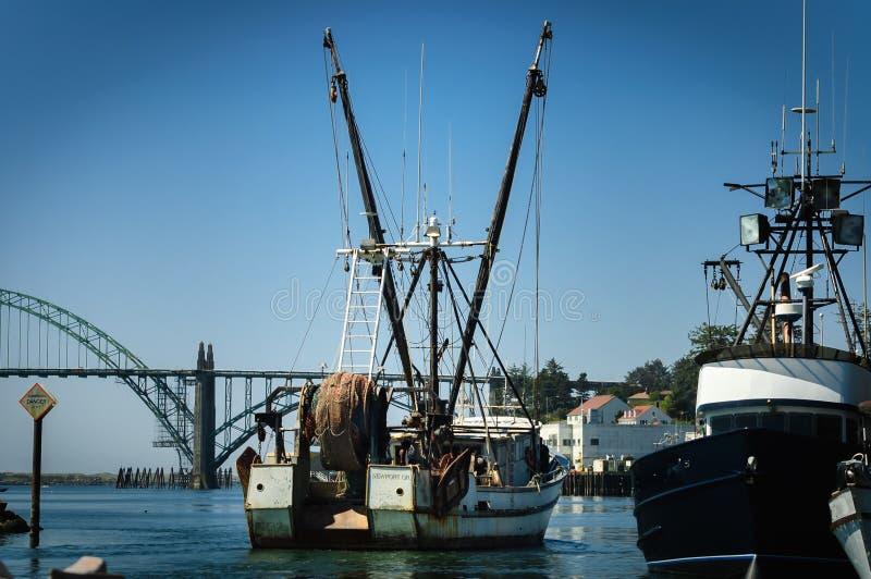 小船起重机 免版税库存图片
