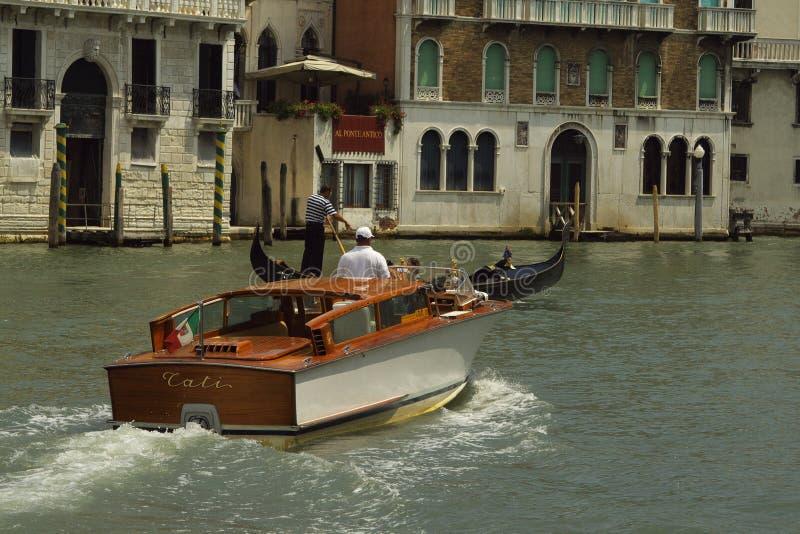 小船运河威尼斯 图库摄影
