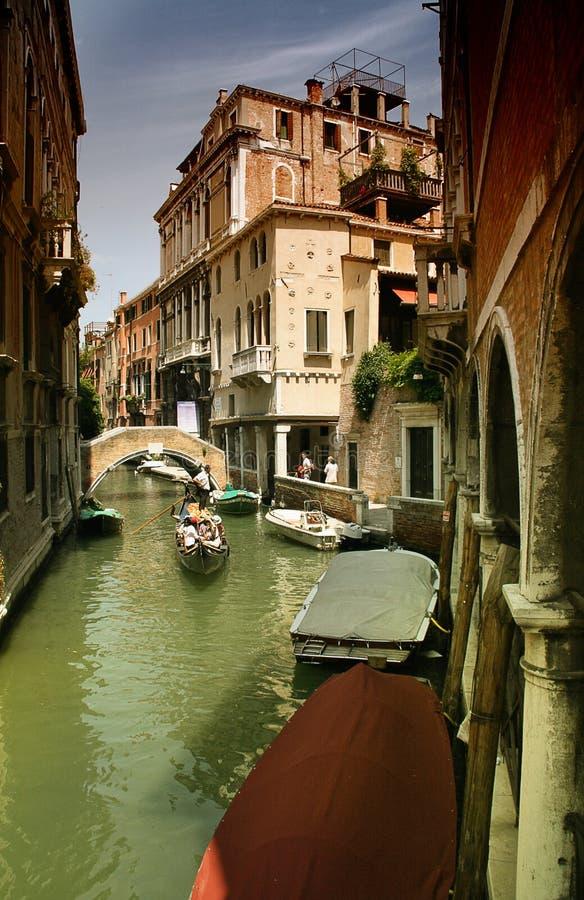 小船通道威尼斯 库存照片