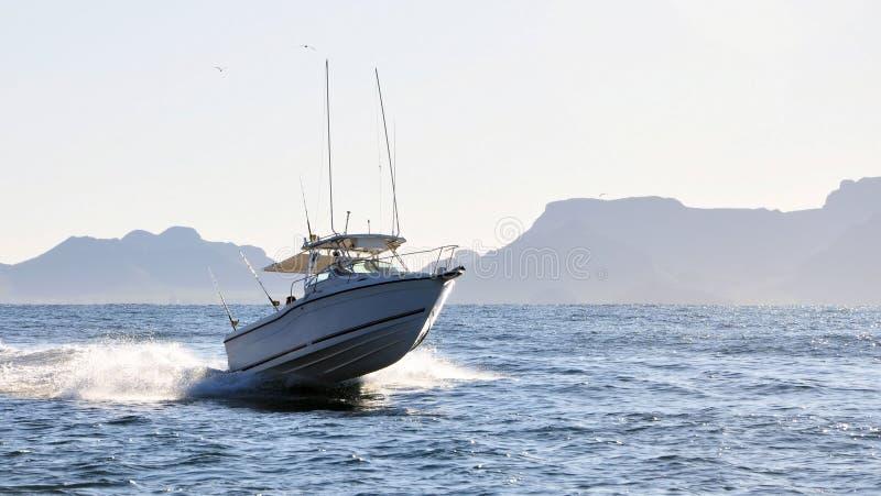 小船速度 免版税库存图片
