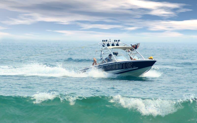 小船速度 免版税图库摄影