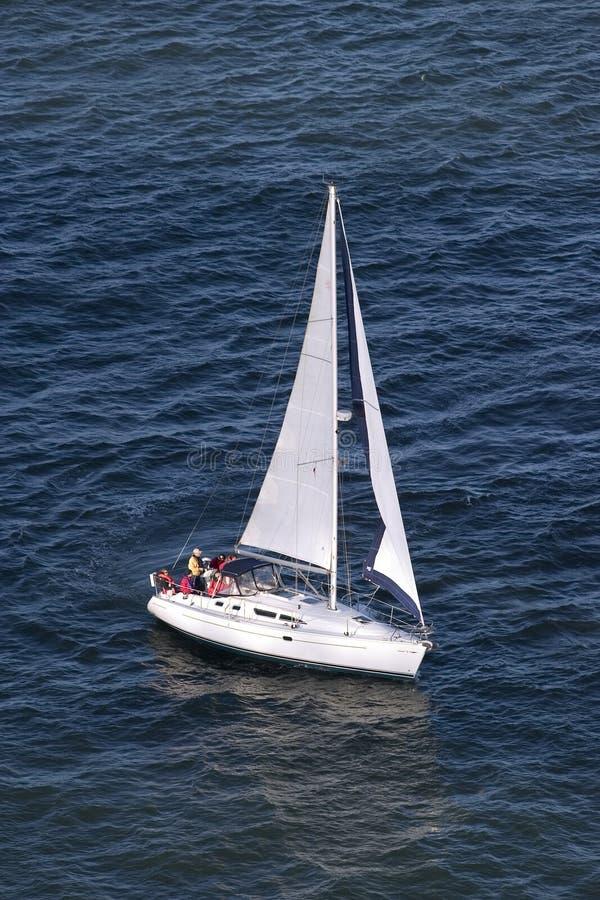 小船风帆端 免版税库存图片