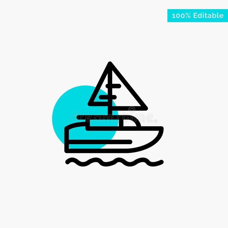 小船,船,印度人,国家绿松石聚焦圈子点传染媒介象 库存例证