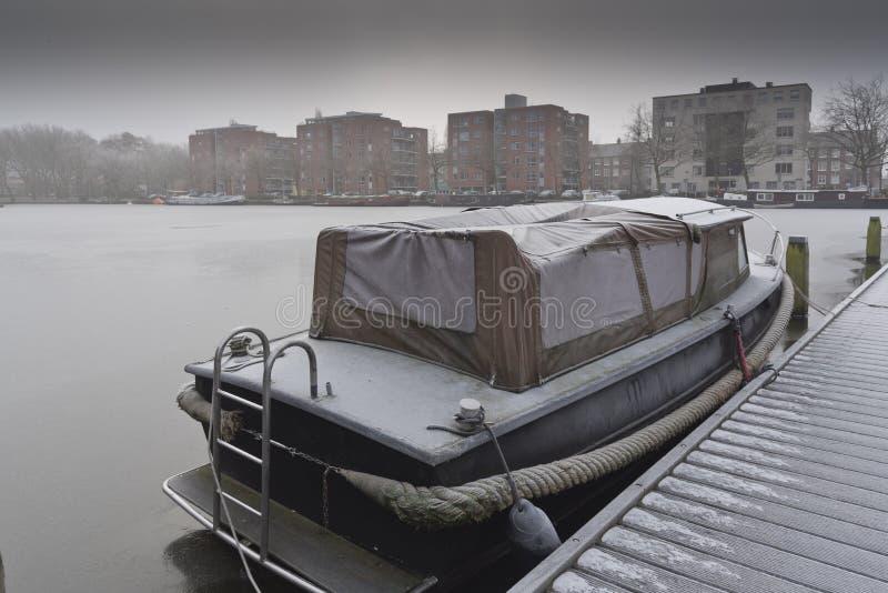 小船水池Slotermeer阿姆斯特丹 库存图片