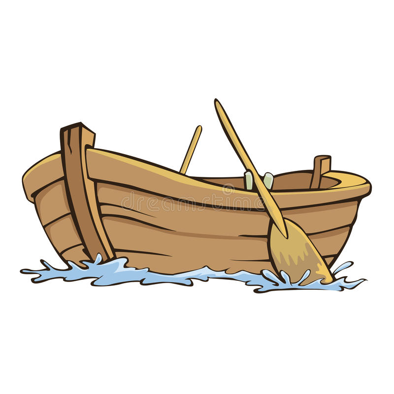 小船 向量例证