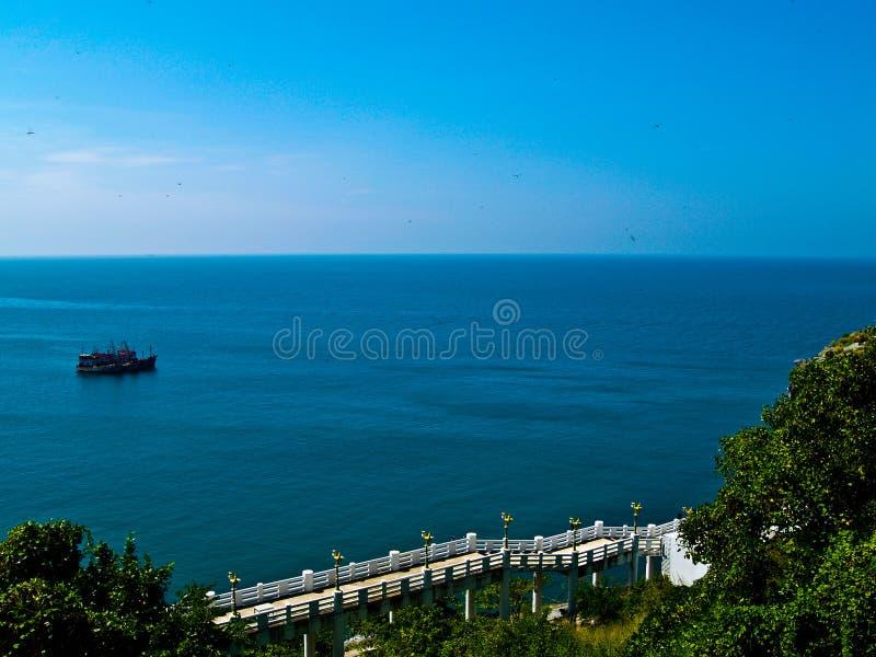 小船chang si被束缚的捕鱼酸值 免版税库存图片