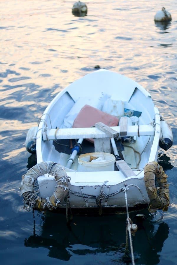 小船gili印度尼西亚在小附近的海岛lombock 免版税库存照片