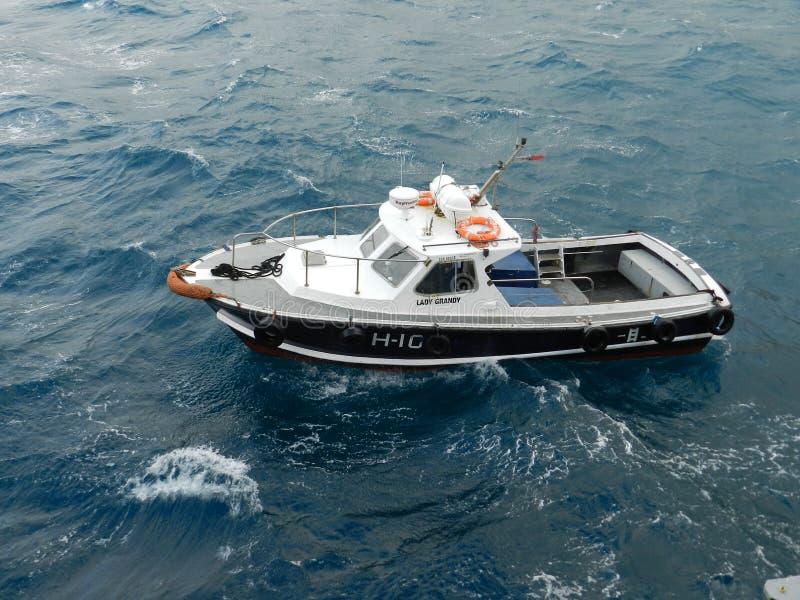 小船gili印度尼西亚在小附近的海岛lombock 库存照片