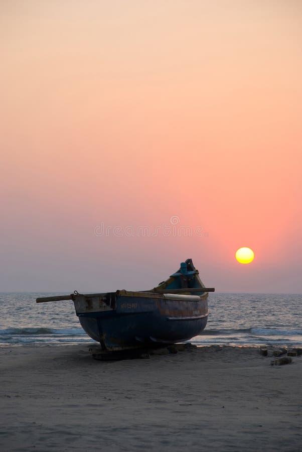 小船goa传统的印度 库存照片