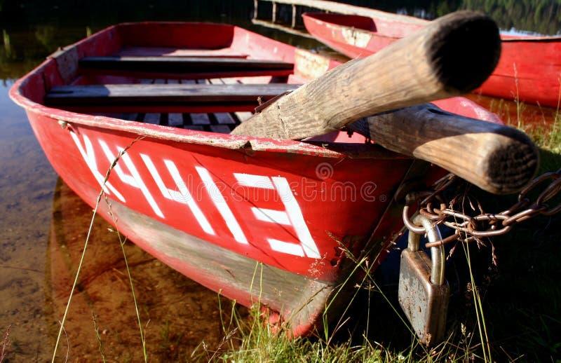 小船iii被锁定 库存照片