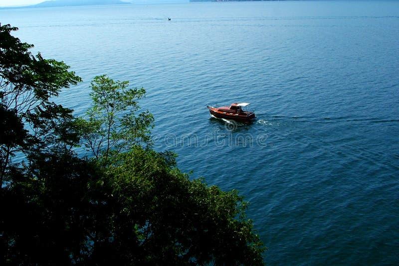 小船lago Maggiore 免版税库存照片