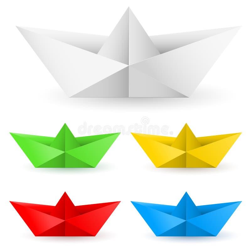 小船origami纸张 皇族释放例证