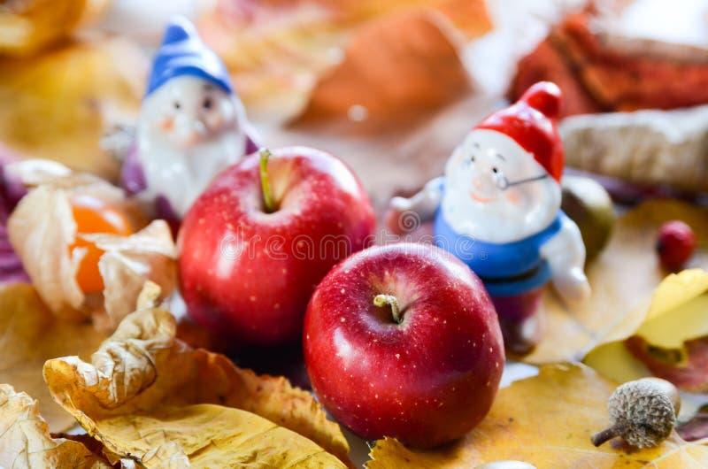 小苹果和矮人 免版税图库摄影