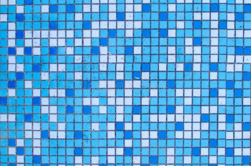 小蓝色和白色瓦片样式 库存照片