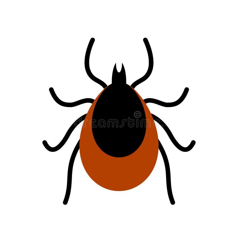 小蜘蛛壁虱传染媒介象 皇族释放例证