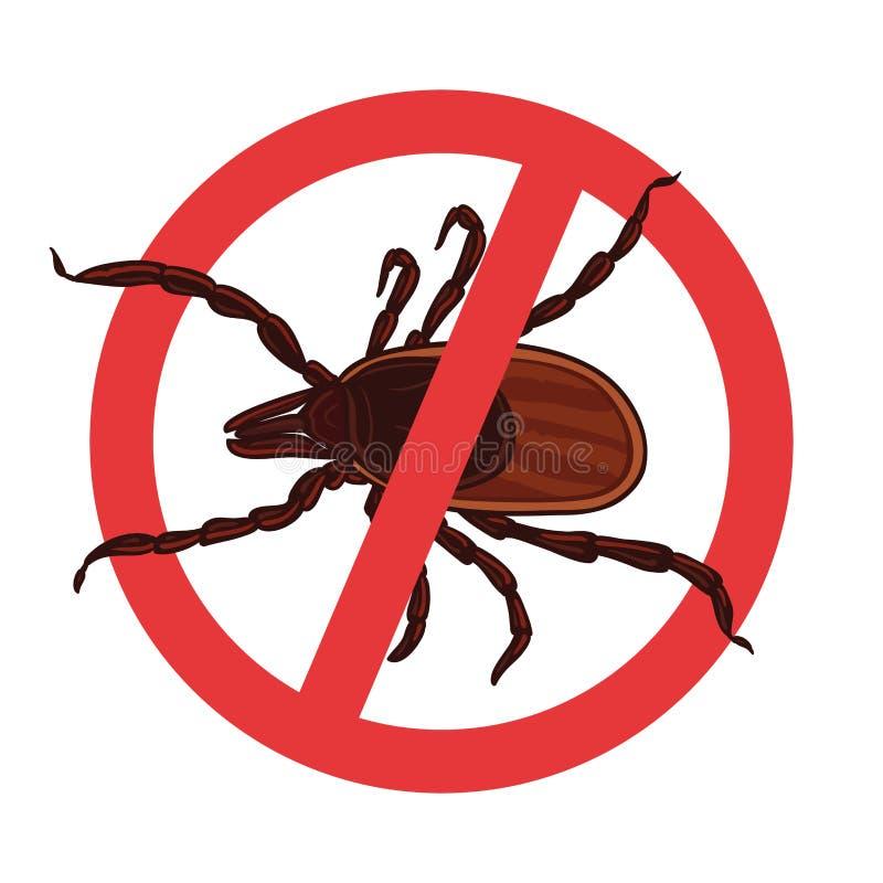 小蜘蛛寄生生物 壁虱剪影 标志寄生生物警报信号 皇族释放例证