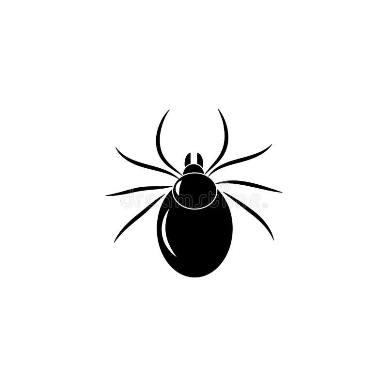 小蜘蛛昆虫标志传染媒介象 向量例证