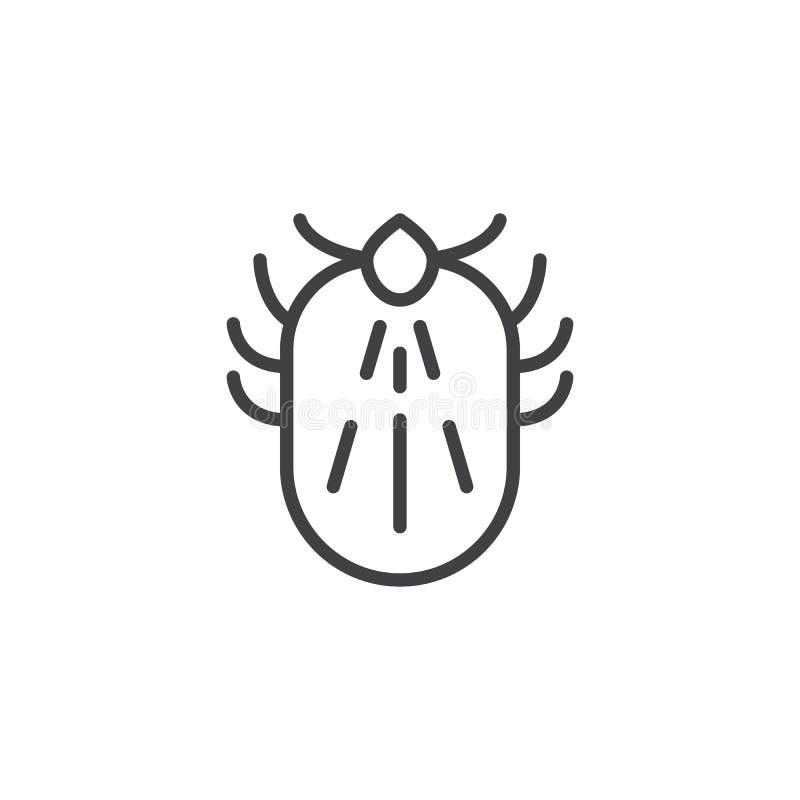 小蜘蛛虫排行象 库存例证