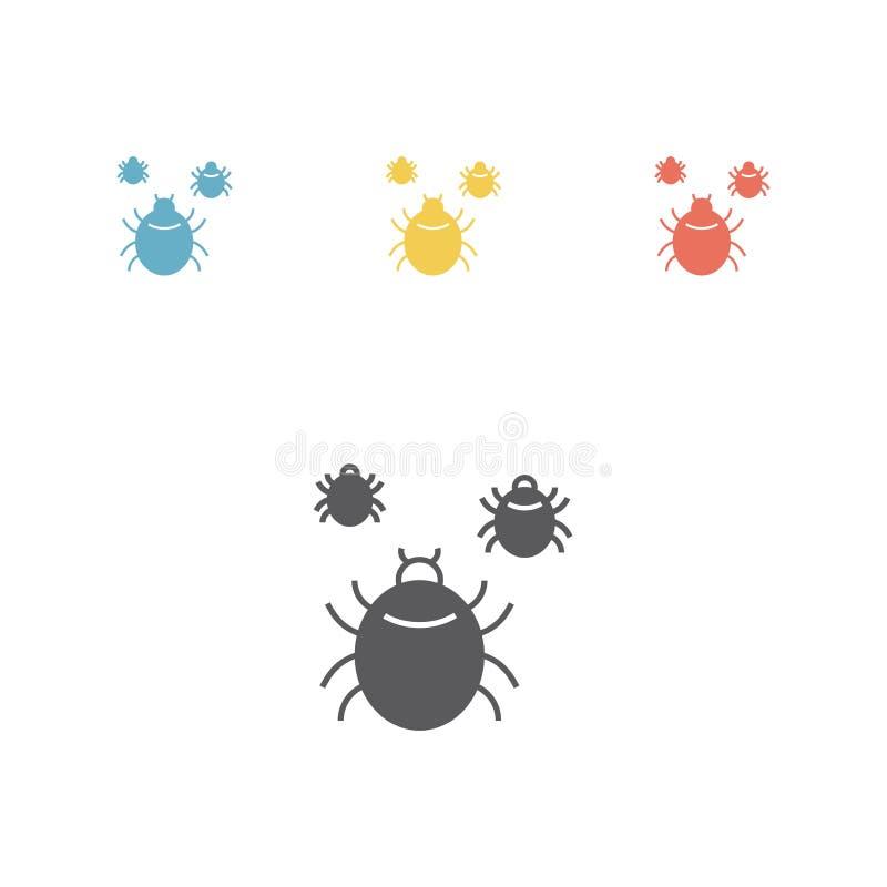 小蜘蛛象 也corel凹道例证向量 库存例证