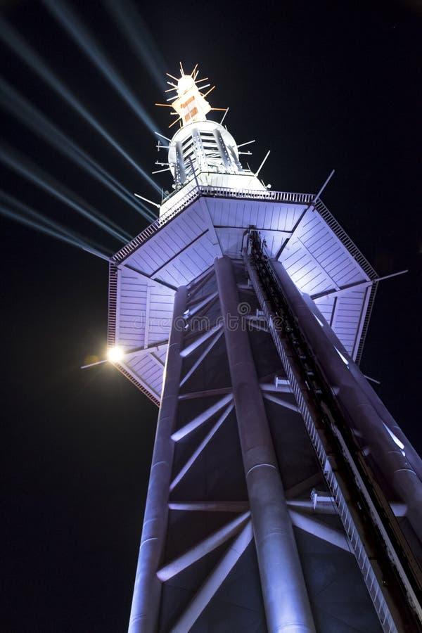 小行政区塔上面尖顶 库存图片