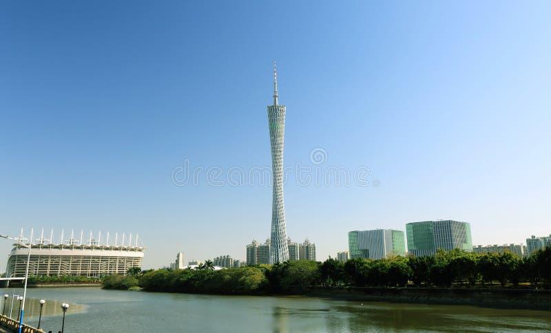 小行政区塔在广州市 库存图片