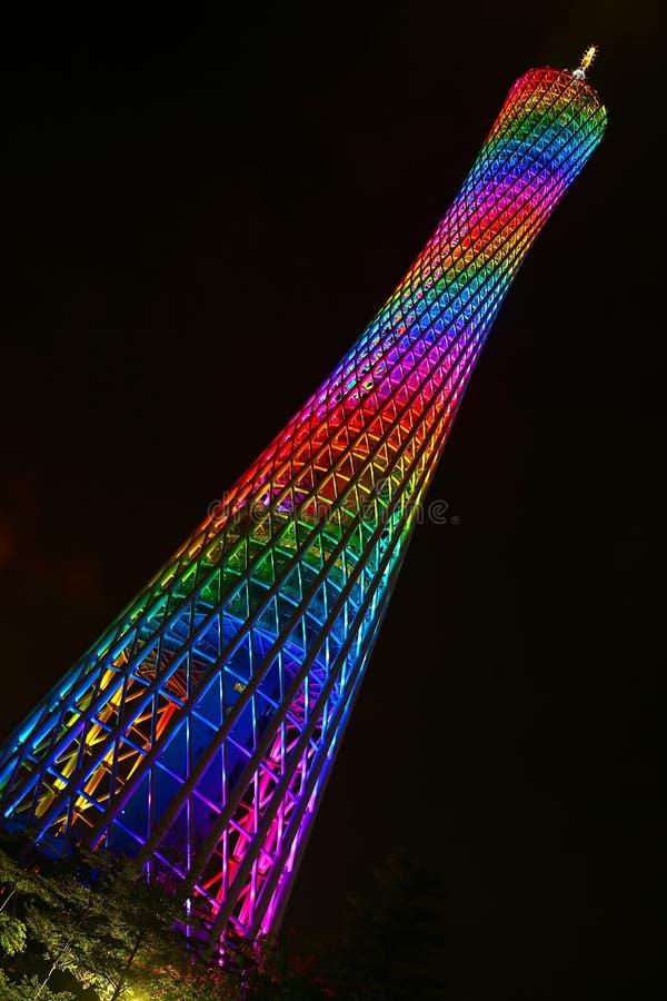 小行政区塔在广州,中国 免版税库存照片