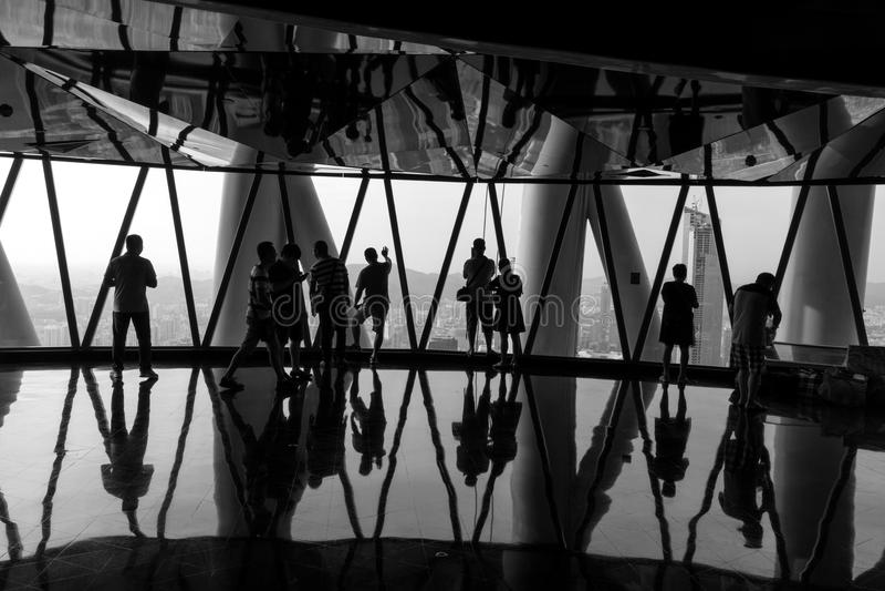 小行政区塔观察台 免版税库存照片
