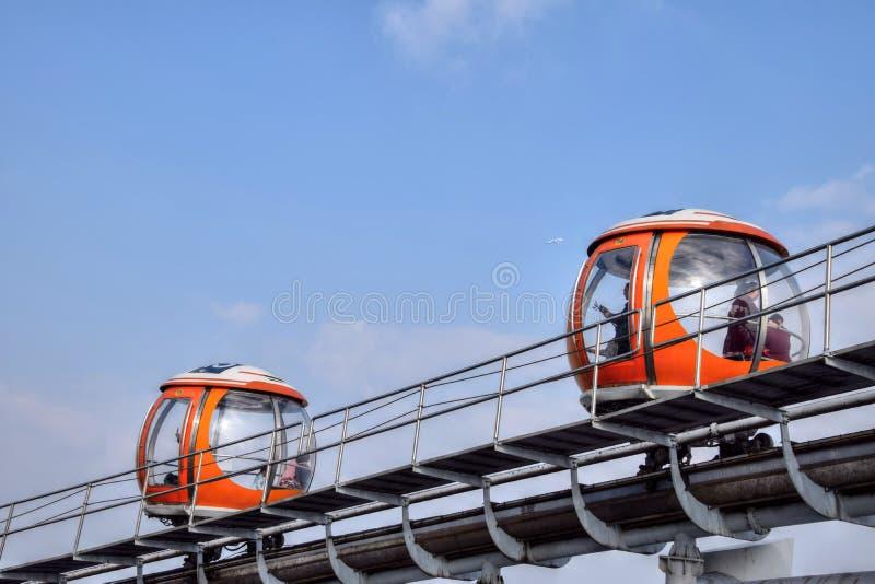 小行政区,广东,中国-大约2017年1月:小行政区塔缆车观点 库存照片