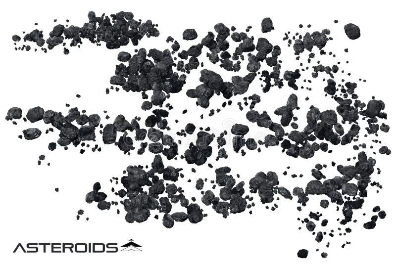 小行星领域例证 图库摄影