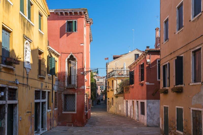 小街道在威尼斯 库存照片