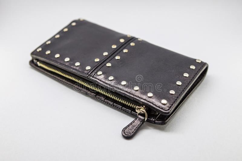 小袋子和女性钱包 库存图片