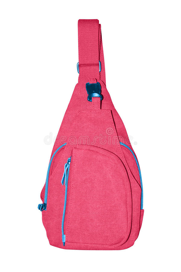 小袋子背包肩膀 免版税库存照片