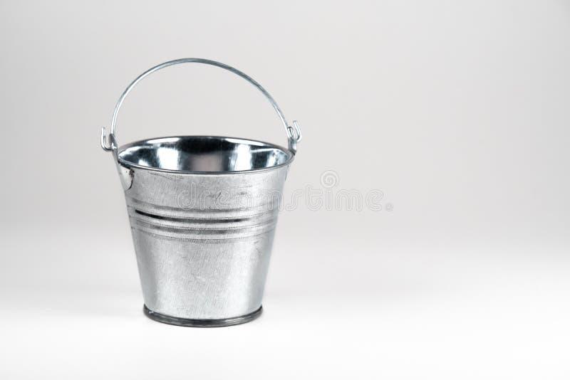 小被镀锌的桶 免版税图库摄影