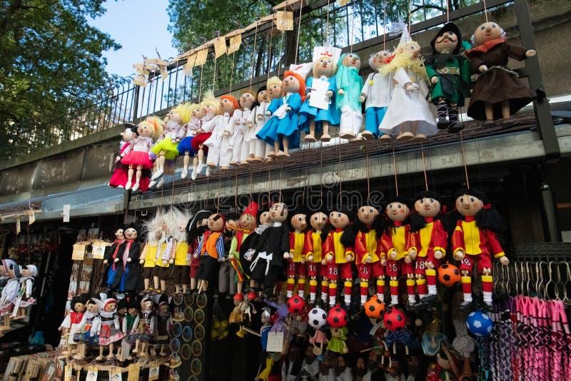 小装饰品在布拉格,捷克 免版税图库摄影