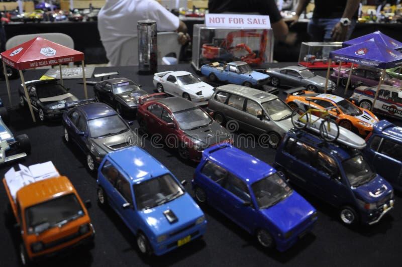 小规模街道赛车模型 库存图片