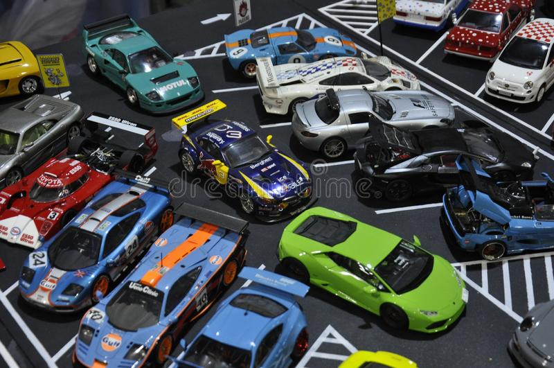 小规模街道赛车模型 库存照片
